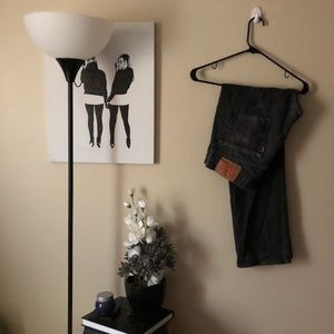 33x30 Levi's lightwashed black jeans style 514